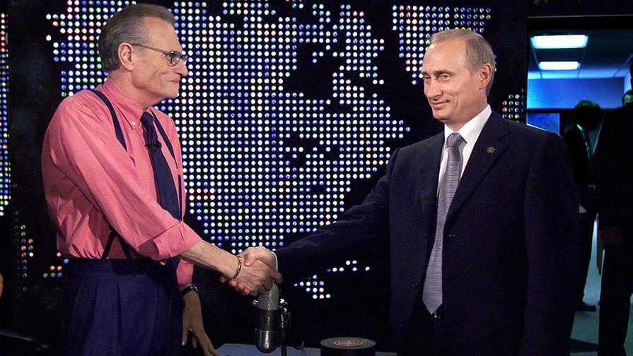 Ларри Кинг и президент РФ Владимир Путин, 2000 год