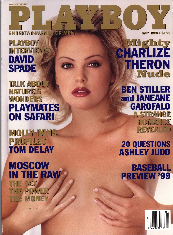 Шарлиз Терон на обложке Playboy, 1999 год