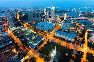 Сингапур сверху