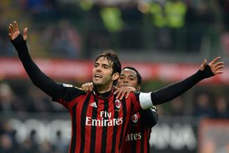 Бразильцы Кака и Робиньо принесли «Милану» пятую победу в чемпионате Италии