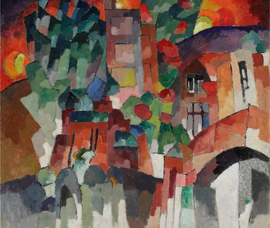 А.В. Лентулов. Пейзаж с воротами. Кисловодск. 1913
