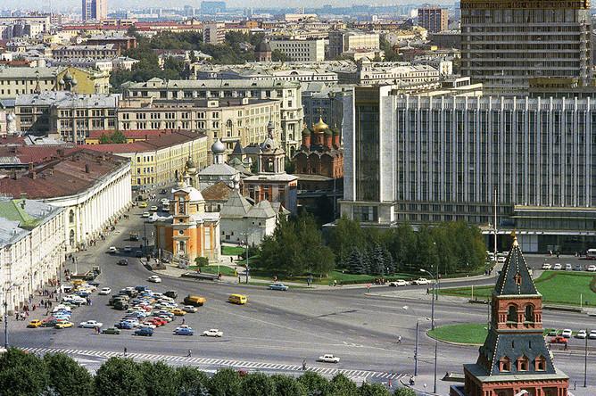 Вид с колокольни Ивана Великого. 1978 год