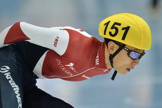 Виктор Ан на квалификационном забеге чемпионата мира