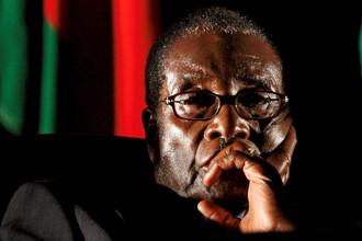 Президент Зимбабве Роберт Мугабе в Йоханенсбурге, 17 августа 2008