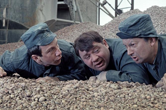 Савелий Крамаров, Евгений Леонов, Георгий Вицин в сцене из фильма «Джентельмены удачи», 1971 год