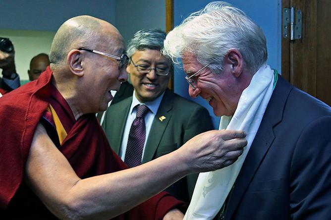 Далай-лама и актер Ричард Гир