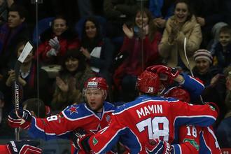 ЦСКА празднует разгромную победу над хорватским «Медвешчаком»