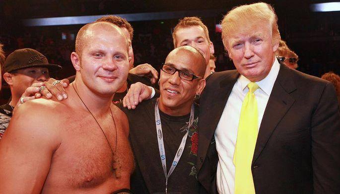 Дональд Трамп в свое время бывал на боях Федора Емельяненко