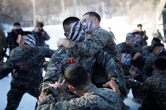 Совместные учения морпехов США и Южной Кореи в уезде Пхёнчхан, 24 января 2017 года