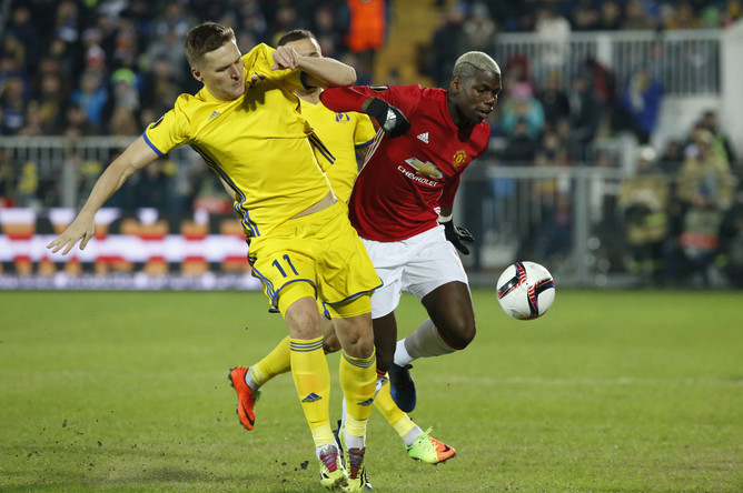 «Ростов» на своем поле сыграл вничью с «Манчестер Юнайтед» в первом матче 1/8 финала Лиги Европы