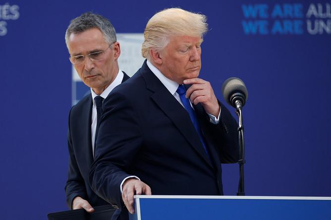Йенс Столтенберг и Дональд Трамп