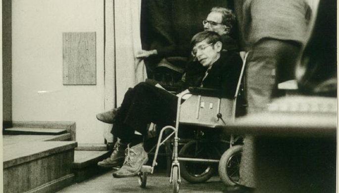 Конференц-зал ГАИШ МГУ. Первый визит Стивена Хокинга в Москву, 1973 год