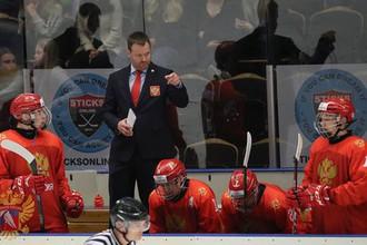 Главный тренер юниорской сборной России по хоккею Владимир Филатов
