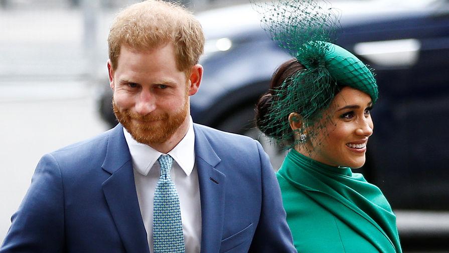 Герцоги Сассекские принц Гарри и Меган Маркл в Вестминстерском аббатстве, 9 марте 2020 года