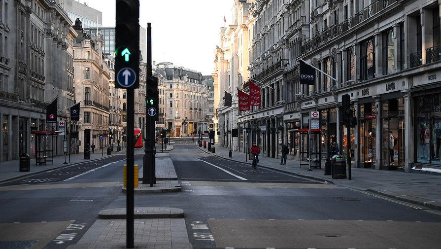 Одна из улиц в центре Лондона, Великобритания, 24 марта 2020 года