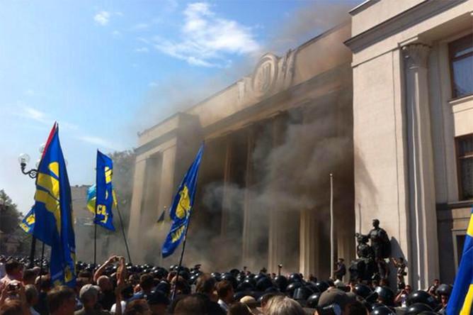 Беспорядки у Верховной рады в Киеве