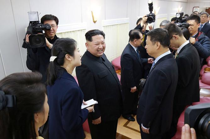 Лидер КНДР Ким Чен Ын во время визита в Пекин, 28 марта 2018 года
