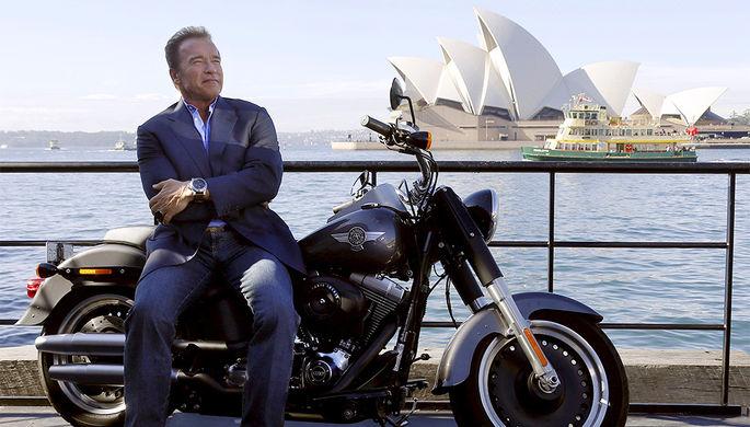 Арнольд Шварценеггер во время фотоколла в Сиднее