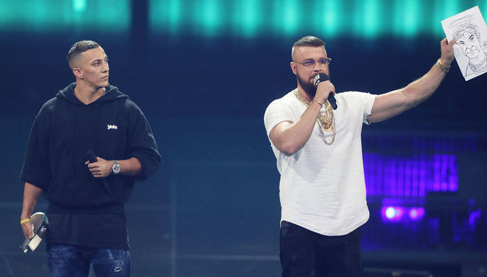 Kollegah & Farid Bang на церемонии Echo Music Awards в Берлине, 12 апреля 2018 года
