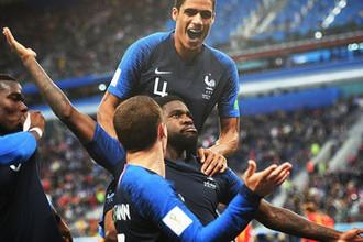 Во время полуфинального матча ЧМ-2018 по футболу между сборными Франции и Бельгии, 10 июля 2018 года