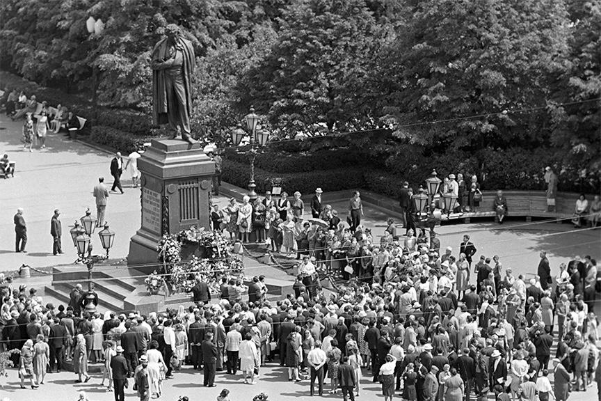 Памятник А.С. Пушкину, 1968 год. Фото: Вячеслав Рунов/РИА «Новости»
