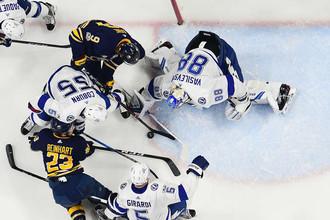 Андрей Василевский (№88) является одним из лучших голкиперов НХЛ в нынешнем сезоне