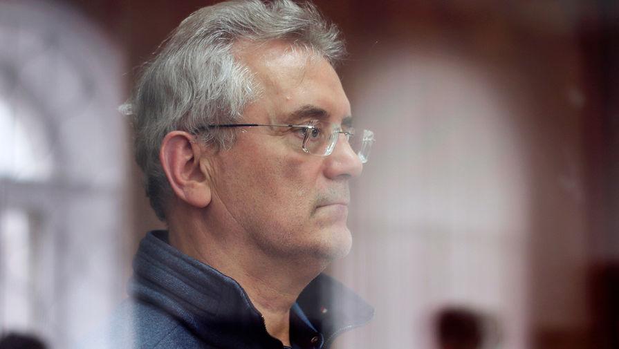 Губернатор Пензенской области Иван Белозерцев на заседании Басманного суда Москвы, 22 марта 2021 года
