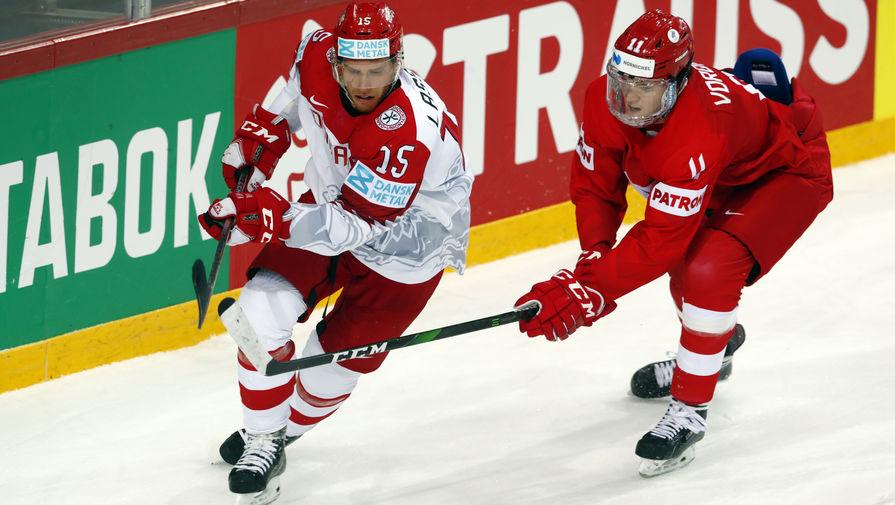 Эпизод матча Россия- Дания
