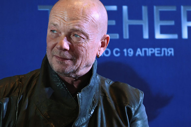 Актер Андрей Смоляков на пресс-конференции перед премьерой фильма «Тренер» в Москве, 12 апреля 2018 года