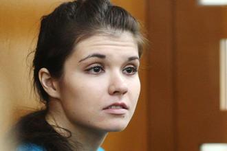 Бывшая студентка МГУ Александра Иванова (Варвара Караулова) во время оглашения приговора в Московском окружном военном суде, 22 декабря 2016 года