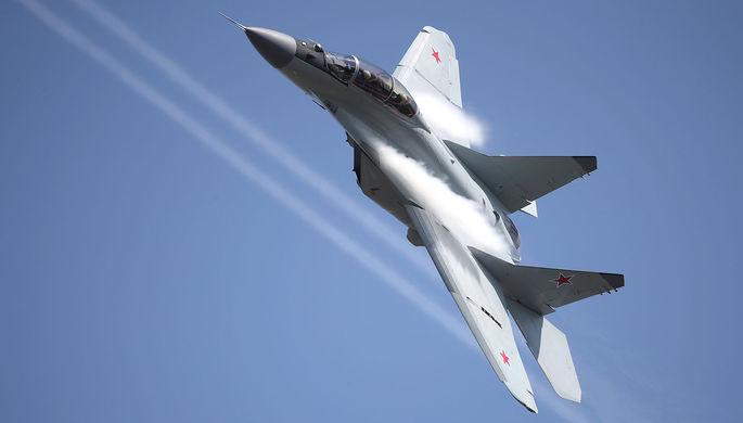 Многофункциональный фронтовой истребитель МиГ-35 во время полета