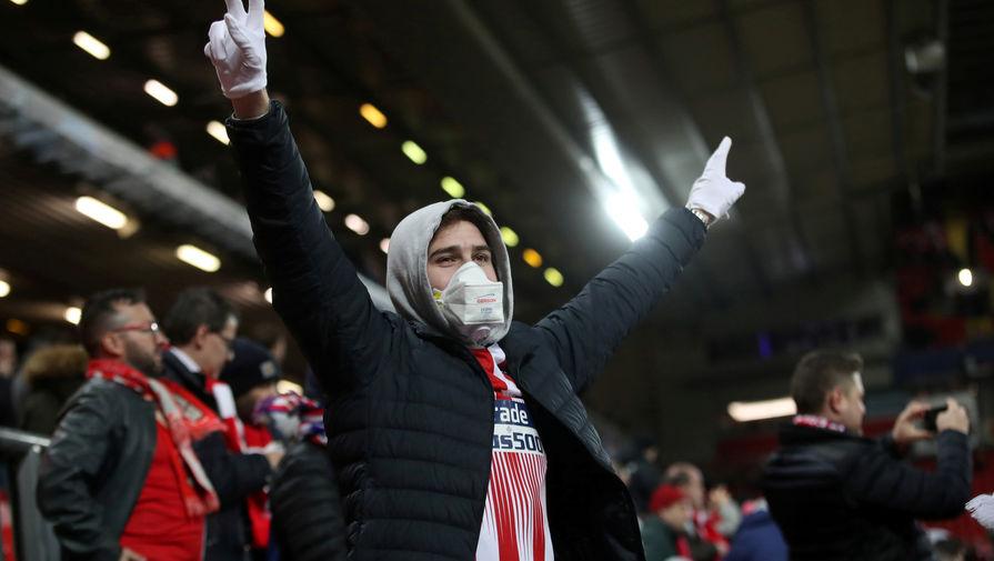 Болельщик «Атлетико» на матче с «Ливерпулем»