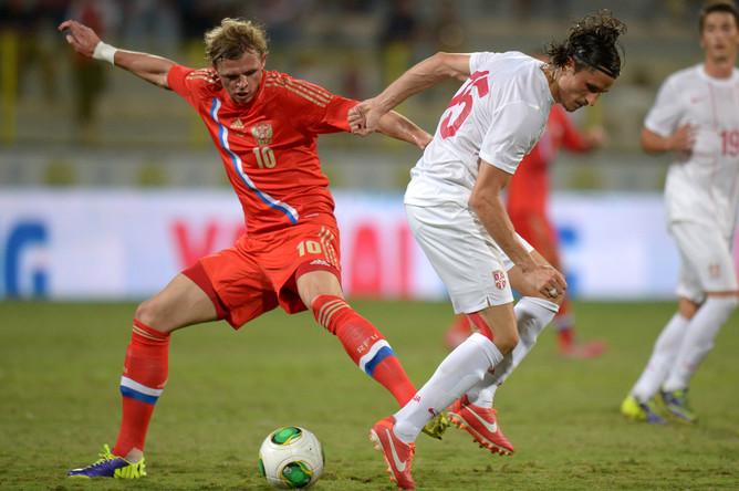 Сборная России по футболу сыграла вничью с командой Сербии в товарищеском матче — 1:1.