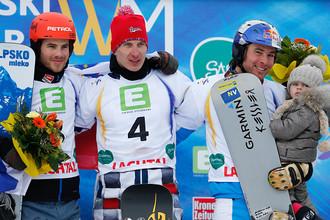 Чемпион мира Андрей Соболев (в центре) и его соперники