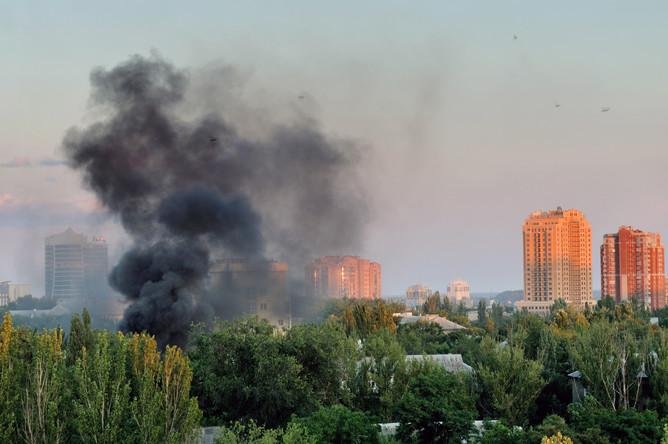 Донецк после обстрела, 18 июля 2015 года