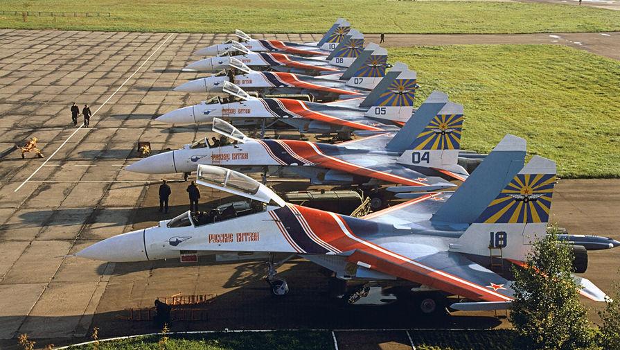 Эскадрилья «Русские витязи» на авиабазе Кубинка, 1991 год