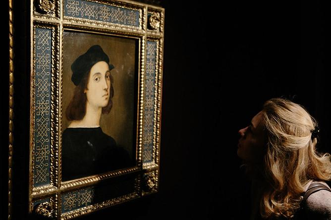 Рафаэль Санти. Автопортрет. 1506 (Галерея Уффици, Флоренция)