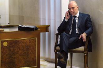 Министр финансов России Антон Силуанов перед началом заседания в Москве, декабрь 2016 года