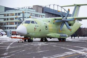 Военно-транспортный самолет Ил-112В на воронежском авиастроительном предприятии ПАО «ВАСО», 2018 год