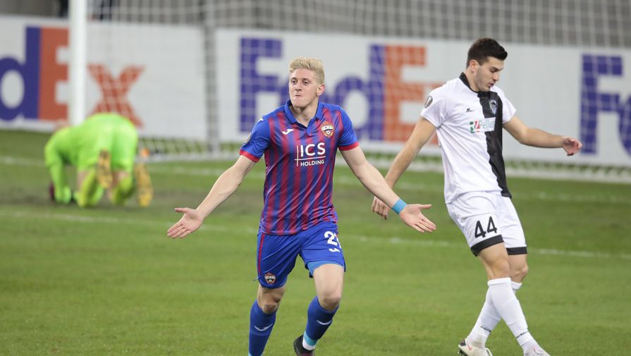 Адольфо Гайч празднует первый гол за ЦСКА в официальном матче