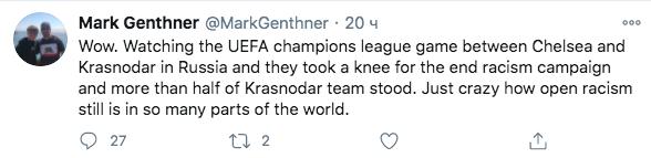 Uefa Ne Stal Nakazyvat Igrokov Krasnodara Ne Preklonivshih Koleno V Podderzhku Blm Gazeta Ru