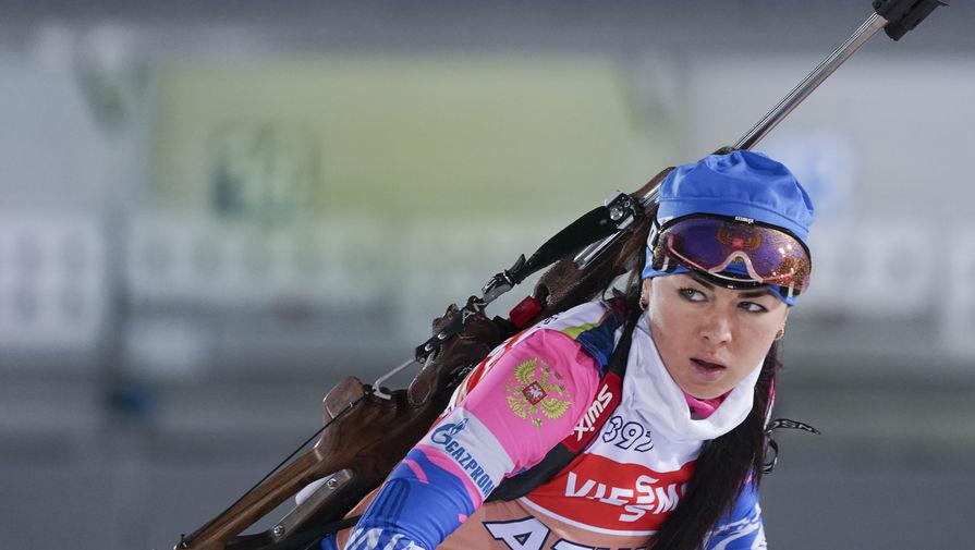 Российская биатлонистка Лариса Куклина