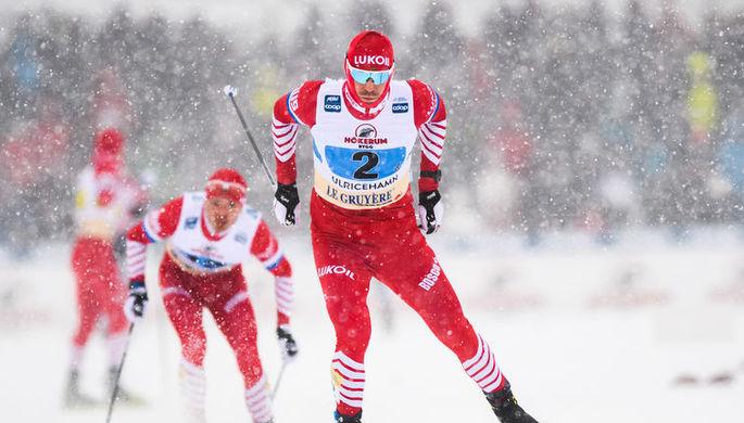 Призеры Олимпиады в Сочи Максим Вылегжанин, Александр Легков и Илья Черноусов (слева направо)