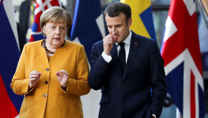 Ушли в конфронтацию: что делят Меркель и Макрон