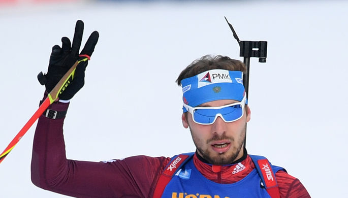 Hоссийский биатлонист Антон Шипулин