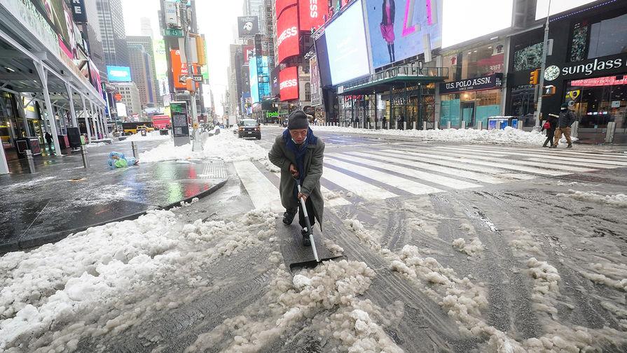 Последствия снегопада в Нью-Йорке, 2 февраля 2021 года