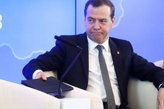 Премьер-министр России Дмитрий Медведев на расширенном заседании фракции «Единая Россия» в Госдуме, 6 апреля 2018 года