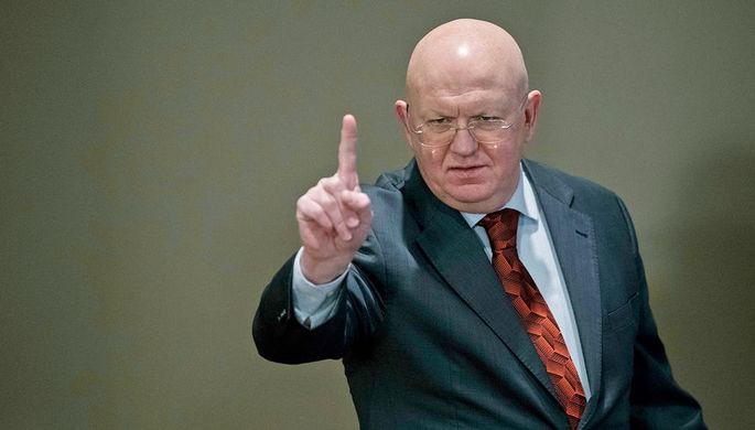 Постоянный представитель Российской Федерации при Организации Объединённых Наций Василий Небензя, 5 января 2018 года