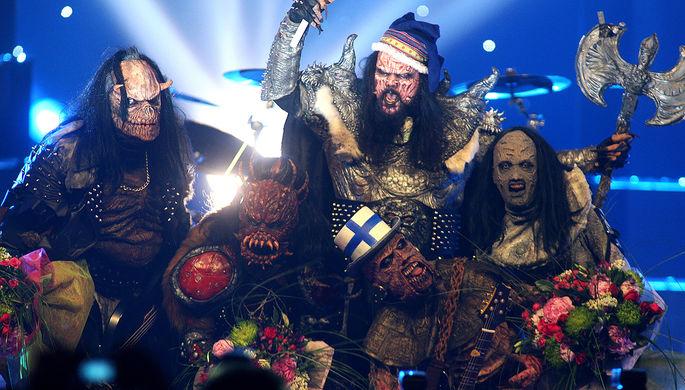 Финская группа Lordi, которая выиграли конкурс песни «Евровидение» в 2006 году