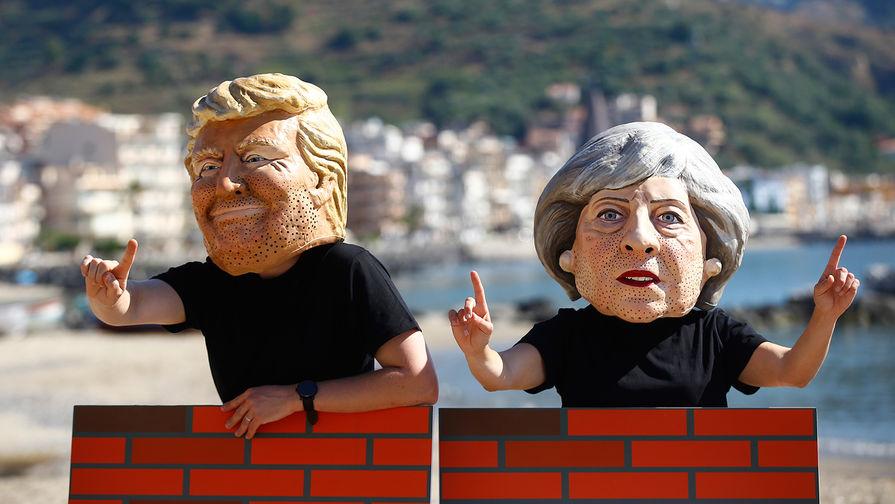 В Великобритании десятки тысяч человек выступили против приезда Трампа